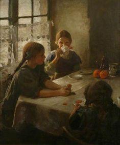 The Tea Party, 1912 / Harold Harvey