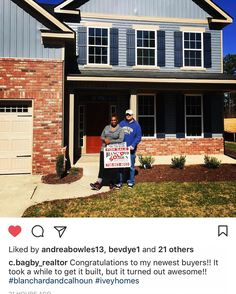 Welcome Walton Farms' newest family! Thanks @c.bagby_realtor   #newhome #iveyhomes #family #exterior #home #homeowners Ivey Homes is a local Augusta GA home builder. Homes from the Low $100's to custom.