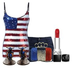 """Happy 4th!"" by sophiejupiter on Polyvore featuring Barbour, Aquazzura and Christian Dior"
