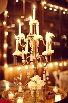 Combination of electric and candle#lighting
