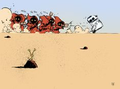 Just take a gander at cartooning genius Skottie Young's drawings featuring characters from the original Star Wars trilogy. It will put a smile on your faces. Star Wars Comics, Star Wars Humor, Comic Book Artists, Comic Books Art, Comic Artist, Starwars, Chibi, Images Star Wars, Art Gallery