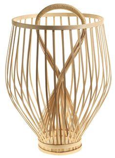 Corbeille Fruit Basket / Ø 27 x H 43 cm Bambou naturel - ENOstudio