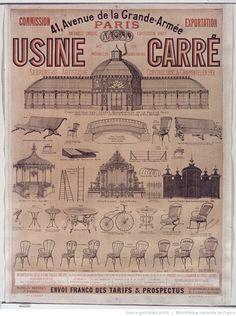 Usine Carré : serrurerie artistique, constructions & charpentes en fer : [affiche] / [Jules Chéret]