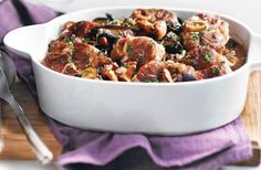 Osso Bucco of Pork with Mushrooms : A nice twist to the original dish! Served with pecorino and garlic orzo. Pork Recipes, Dog Food Recipes, Cooking Recipes, Osso Bucco Porc, Pork Mushroom, Dinner Is Served, Soul Food, Stuffed Mushrooms, Meals