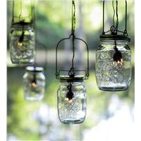 Solar Glass Mason Jar Outdoor Lights