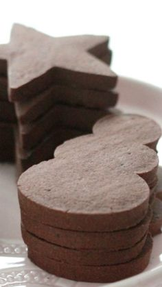 Chocolate Sugar Cookie Recipe ~ the perfect cut out cookie which holds its shape.