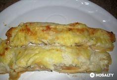 Sajtszószban sült sonkás palacsinta Waffles, Pancakes, Hungarian Recipes, Hungarian Food, Crepes, Lasagna, Quiche, Macaroni And Cheese, Rolls