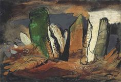 ✽ john piper - 'gliders rocks' - 1950 - oil on canvas