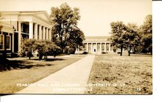 RPPC-Real-Photo-Postcard-UNIVERSITY-OF-VIRGINIA-Charlottesville-Library-School