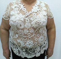 Одноклассники Irish Crochet, Crochet Shawl, Crochet Lace, Cashmere Shawl, Lace Outfit, Irish Lace, Crochet Gifts, Lace Tops, Crochet Projects