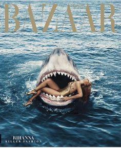 Rihanna on the cover of Bazaar