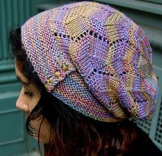 Slouchy Hat Knitting Patterns - In the Loop Knitting Beanie Knitting Patterns Free, Knitting Yarn, Knit Patterns, Free Knitting, Stitch Patterns, Knit Crochet, Crochet Hats, Slouchy Hat, Knitting Accessories
