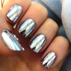 Mirror nail art!