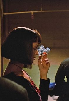 cynema: Uma Thurman in Pulp Fiction dir. Quentin Tarantino cynema: Uma Thurman in Pulp Fiction dir. Quentin Tarantino The post cynema: Uma Thurman in Pulp Fiction dir. Quentin Tarantino appeared first on Film. Quentin Tarantino, Mia Wallace, Mathilda Lando, Movies And Series, Kino Film, Women Smoking, Film Serie, Film Stills, Movies Showing