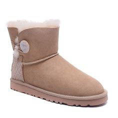 UGG Boots Mini Bailey Button Scale 1007538 Sand