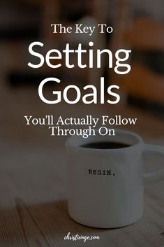Do you struggle with following through when you set goals? In this post, I talk about why that happens + give you a step-by-step goal setting worksheet and process to help you set goals that you'll follow through on. #goals #goalsetting #goaldigger #personalgrowth #selfhelp #intentionalliving #empowerment