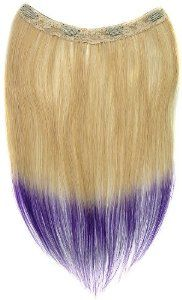 Tressecret Ombre Tail Dip-Dye Clip In Extension, 16 inches 18 inches, Blonde and Purple by Tressecret. $32.59. On-trend ombre 2-tone style. Can be safely curled and permed. Silicon based clip that will hold hair tight for activity. 100% remy human hair. Tressecret ombre tail dip-dye hair extensions give volume, add thickness and highlighting effects to your hair. Made of 100% remy human hair, ombre tail can be safely curled and permed. The silicon based clip is easy to use and ...
