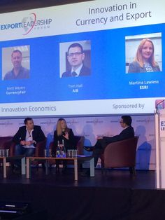 Tom Hall talks to Brett Meyers of CurrencyFair & Martina Lawless about Future of Currency & Export #ExportThinking #FinTech