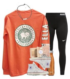 Converse, casetify, bobbi brown cosmetics, kate spade and avery high school Cute Lazy Outfits, Teenage Girl Outfits, Cute Outfits For School, Teen Fashion Outfits, Sporty Outfits, Tween Fashion, Teenager Outfits, Athletic Outfits, Outfits With Converse