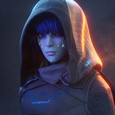 Lera the Huntress (Destiny 2 fanart), Drexis Animations Blender 3d, Blender Models, Destiny Comic, Destiny Game, Destiny Hunter, Destiny Bungie, Badass Drawings, Space Drawings, Sci Fi Characters