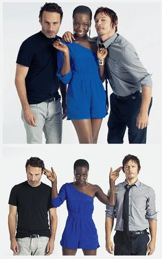 The Walking Dead, Andrew, Danai, & Norman