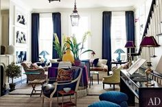 Tips for creating a Designer Living Room via 55 Downing Street | The English Room