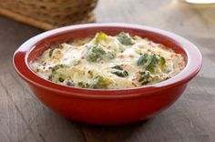 Our Baked Cheesy Broccoli Dip is a great appetizer.  This creamy dip features broccoli, roasted red peppers and two kinds of cheese. So warm and tasty, even the crackers can't wait to dip in.
