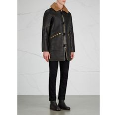 M-90 shearling-lined leather duffle coat - Coats - All Clothing - Men