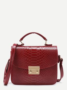 Shop Metal Detail Snakeskin Print PU Shoulder Bag online. SheIn offers Metal Detail Snakeskin Print PU Shoulder Bag & more to fit your fashionable needs.