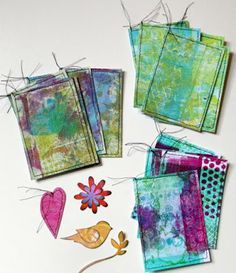 What To Do With Gelli Print Papers Happy Friday! I kept a promise to myself to not make any more gelli prints until I used some from the pile I have already accumulated. So here is what I've come up with so far Junk Journal, Art Journal Pages, Art Journaling, Ideas Collage, Collages, Gelli Plate Printing, Art Journal Techniques, Plate Art, Art Graphique