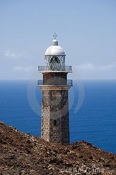 TOP OF LIGHTHOUSE FARO DE  ORCHILLA,EL HIERRO by Eyewave  Dreamstime.com