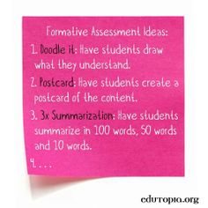 56 Examples of Formative Assessment                                                                                                                                                                                 More