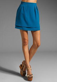 BB Dakota Louise Broadcloth Double Layer Skirt