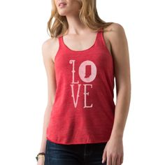 LOVE (Indiana) Tank | Hayes and Taylor Indianapolis, IN Hand Printed Apparel