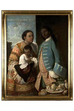 """De chino cambujo e india, loba (1763), de Miguel Cabrera. Género: """"pintura de castas"""""""