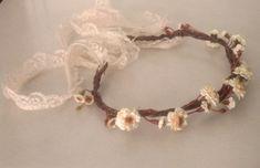 Woodland crown Blush Peach Bridal hair wreath silk por AmoreBride, $42.00