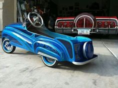 Pedal car with custom paint job