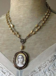 GRACE RECEIVED vintage assemblage necklace by TheFrenchCircus