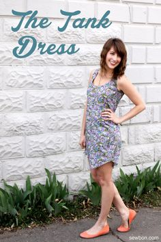 The Sew Caroline Tank Dress by Sewbon.com