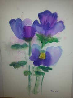 Violets watercolor (17x25) 5/2014