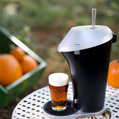 Fizzics Beer System -- This home beer system turns any beer—bottled, canned, growlered—into a heady, keg-style beer you can enjoy at home. It uses a patented fluid & gas technology with a vacuum-sealed base unit to pressurize your beer without the need for replacement CO2 cartridges: just easy-pouring draft beer anytime you want one.   $170