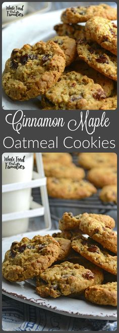 Cinnamon Maple Oatmeal Cookies satisfy your sweet and treat cravings ...