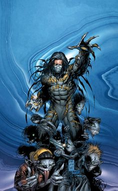 Mafia hitman Jackie Estacado inherits from his bloodline the ancient power of The Darkness. Art by Marc Silvestri.