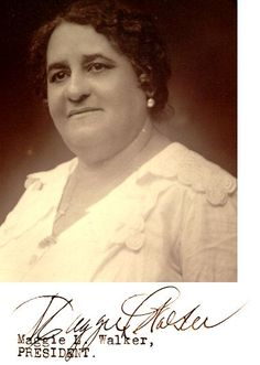"""Maggie L. Walker,a civil rights activist & trail blazing entrepreneur.The African American community leader devoted her life to defeating racism,sexism & economic oppression. Walker chartered a bank, a newspaper & a store 17 years before American wom Great Women, Amazing Women, Civil Rights Activists, Women In History, Ancient History, Black History Facts, African American History, Native American, African Diaspora"