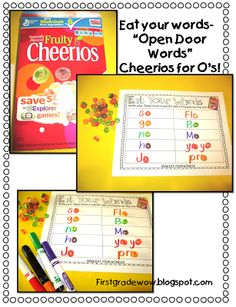 First Grade Wow: Open Vowel Words activities and printables