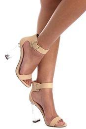 Natural Crystal Clear Heels