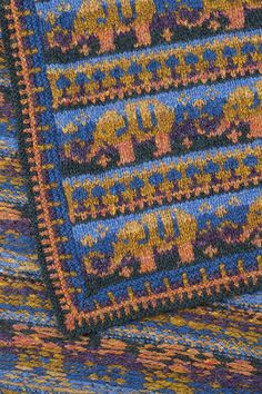 Elephants blanket hand knitwear design by Alice Starmore from the book The Children's Collection Knitting Books, Knitting Videos, Knitted Shawls, Knitted Blankets, Baby Blankets, Waistcoat Designs, Elephant Blanket, Fair Isle Pattern, In Case Of Emergency
