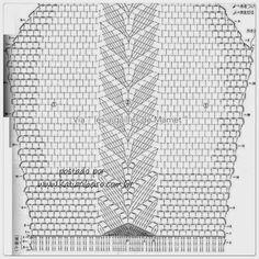 Blusa em crochê com gráfico - Katia Ribeiro Crochê Moda e Decoração Crochet Lace Collar, Crochet Blouse, Knit Crochet, Crochet Doilies, Projects To Try, Crochet Patterns, Diagram, Knitting, Elsa
