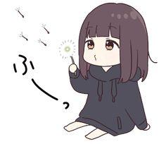 It is a cute sticker of kurumi-chan. Manga Anime Girl, Kawaii Anime Girl, Otaku Anime, Dibujos Anime Chibi, Cute Anime Chibi, Of Wallpaper, Cartoon Wallpaper, Friend Anime, Anime Expressions
