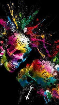 Ugh I will grrrr Skull Wallpaper, Apple Wallpaper, Wallpaper Backgrounds, Dibujos Sugar Skull, Photo Triste, Badass Skulls, Sugar Skull Art, Sugar Skulls, Day Of The Dead Art